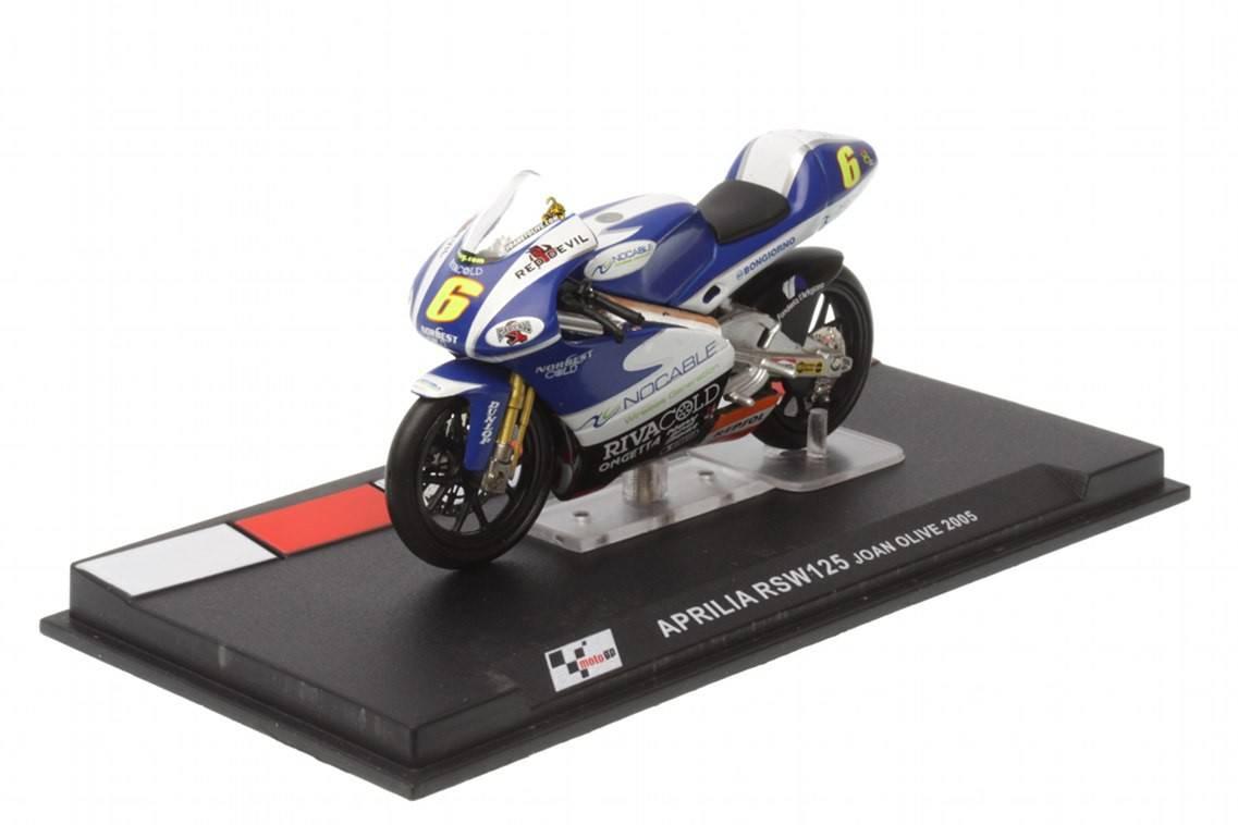 Aprilia rsw125 n 6 125cc 2005 joan olive racing for Cascos motogp altaya