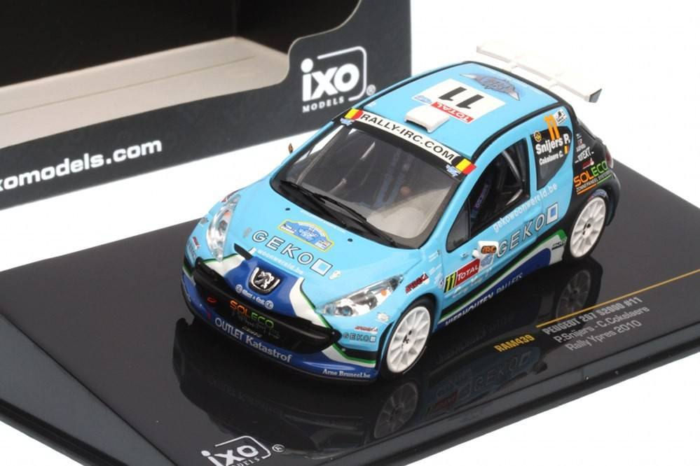 Peugeot 207 s2000 rally ypres 2010 p snijers c for Cascos motogp altaya