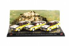 AUDI QUATTRO A2 - Victoria Triple Rally Monte Carlo - 1984 - Röhrl / S. Blomqvist / H. Mikkola