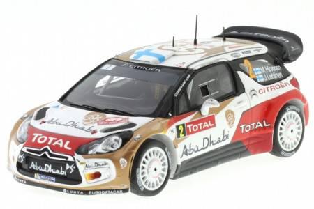 CITROËN DS3 WRC - No.2 Rally Monte Carlo 2013 - M. Hirvonen / J. Lethinen - Spark 1/43