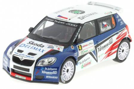 SKODA Fabia S2000 - No.4 Rally 2010 - Valousek / Hruza - Abrex Scale 1/43