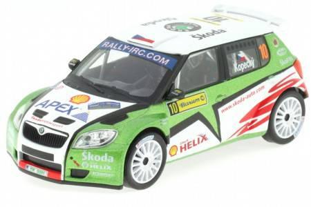 SKODA Fabia S2000 - No.10 Barum Rally 2009 - Kopecky / Stary - Abrex Escala 1/43