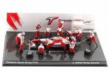 Panasonic TOYOTA Racing TF102 PitStop Diorama - No.25 F1 2002 A. McNish - Minichamps Scale 1/43
