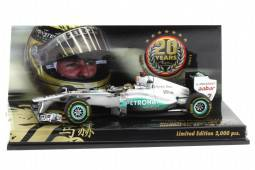 MERCEDES GP 20º GP de F1 Belgica Michael Schumacher 2011 - Minichamps Escala 1/43 (413110107)