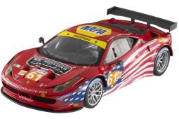 FERRARI 458 Italia GT2 - Le Mans 2012 Kauffman / Aguas / Vickers - Hot Wheels Elite Escala 1:18 (BCT78)