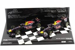 RED BULL Racing RB7 Set Campeón del Mundo Vettel / Webber Formula 1 2011 - Minichamps Escala 1:43 (412110102)