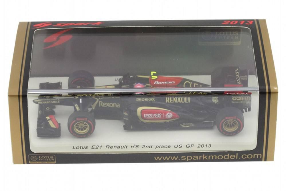 Lotus E21 Renault No.8 R Grosjean 2nd Place US GP 2013  1:43