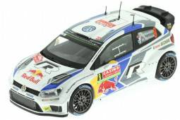 VOLKSWAGEN Polo R WRC Rally Monte Carlo 2014 Mikkelsen / Markkula - Spark Escala 1:43 - Dealear Edition (6C0099300BNP3)