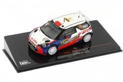 CITROËN DS3 RRC Rally Germany 2013 Kubica / Baran - Ixo Models Scale 1:43 (RAM539)
