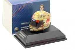 ARAI HELMET  - Sebastian Vettel Red Bull RB8 F1 World Champion 2012 GP Austin - Minichamps Scale 1:8 (381120101)