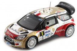 CITROEN DS3 WRC Ganador Rally du Var 2014 S.Loeb / S.Loeb - Spark Escala 1:43 (SF081)