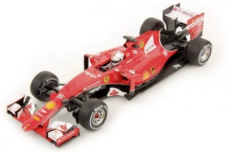 FERRARI SF15-T Ganador GP Formula 1 Malaysia 2015 S.Vettel - Incluye Vitrina - LookSmart Escala 1:18 (LS18F101)
