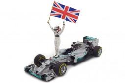 MERCEDES AMG W05 GP F1 Abu Dhabi World Champion 2014 + Figura L.Hamilton - Minichamps Scale 1:18 (110140644)