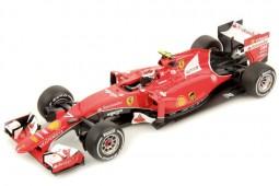 FERRARI SF15-T F1 GP Bahrain 2015 K.Raikkonen + Vitrine - Looksmart Scale 1:18 (LS18F102)
