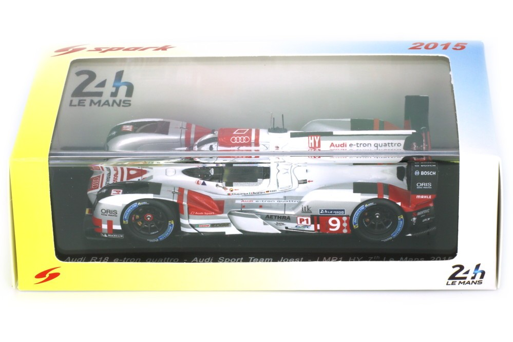 audi r18 e tron 24h le mans 2015 albuquerque bonanomi rast spark scale 1 43 s4635. Black Bedroom Furniture Sets. Home Design Ideas