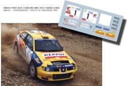 Seat Cordoba WRC Salvador Cañellas Rally Terre des Drailles 1999 Tierra