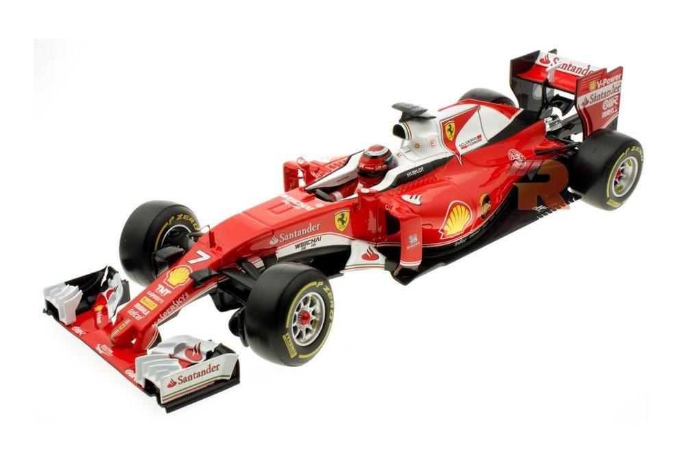 ferrari sf16 h formula 1 2016 k raikkonen bburago scale 1 18 16802r racing modelismo. Black Bedroom Furniture Sets. Home Design Ideas