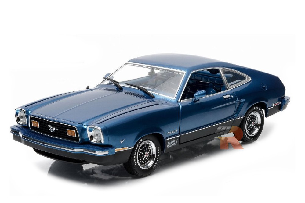 ford mustang ii mach 1 1976 greenlight scale 1 18 12868 racing modelismo. Black Bedroom Furniture Sets. Home Design Ideas
