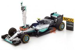 MERCEDES W07 GP Formula 1 Abu Dhabi 2016 - World Champion N. Rosberg - Spark Scale 1:43 (s5025)