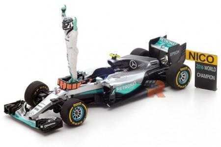 MERCEDES W07 GP Formula 1 Abu Dhabi 2016 - Campeon del Mundo N. Rosberg - Spark Escala 1:43 (s5025)