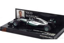 MERCEDES AMG W07 GP F1 Monaco Campeon del Mundo N. Rosberg - Minichamps Escala 1:43 (417160306)
