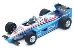LIGIER JS19 Formula 1 GP Monaco 1982 J. Laffite - Spark Scale 1:43 (S4817)