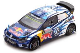 VOLKSWAGEN Polo WRC Campeon del Mundo Rally Australia 2016 S. Ogier - Spark Escala 1:43 (S4971)