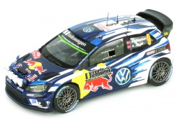 VOLKSWAGEN Polo R WRC Night Version Rally Monte Carlo 2016 A. Mikkelsen / A. Jaeger - Spark Scale 1:43 (S4961)