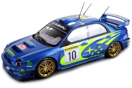 SUBARU Impreza S7 555 WRT Ganador Rally Monte Carlo 2002 T. Makinen / K. Lindstrom - Top Marques Escala 1:18 (TOP37A)