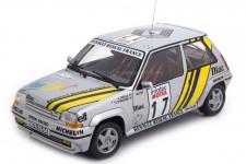 RENAULT 5 GT Turbo Supercinco Tour de Corse 1989 Oreille / Thimonier - Norev Escala 1:18 (185215)