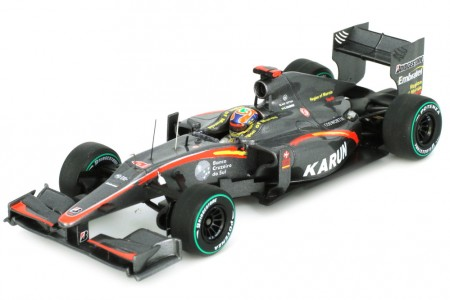 HRT F1-10 GP Formula 1 Monaco 2010 K. Chandhok - Spark Escala 1:43 (s3004)