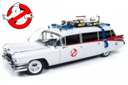 CADILLAC Ambulance Ecto-1 Ghostbusters 1984 With Slimer Figure - Auto World Scale 1:18 (AWWS118)