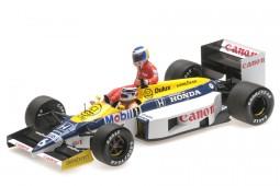 WILLIAMS FW11 Ganador GP Alemania F1 1986 N. Piquet Con K. Rosberg - Minichamps Escala 1:18 (117860106)