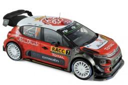 CITROEN C3 WRC Ganador Rally Catalunya 2017 K. Meeke / P. Nagle - Norev Escala 1:18 (181634)