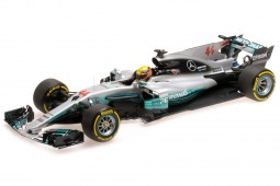 MERCEDES AMG F1 W08 World Champion Winner GP Spain 2017 L. Hamilton - Minichamps Scale 1:18 (110170044)