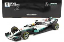 MERCEDES AMG F1 W08 Campeon del Mundo y Ganador GP Spain 2017 L. Hamilton - Minichamps Escala 1:18 (110170044)
