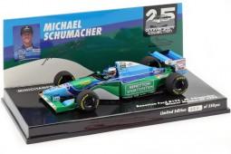 BENETTON B194 Campeon del Mundo F1 1994 Ganador GP Monaco M. Schumacher - Minichamps Escala 1:43 (517940405)