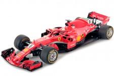 FERRARI SF71H Ganador GP Australia 2018 Sebastian Vettel - Incluye Vitrina - LookSmart Escala 1:18 (LS18F1013)