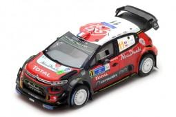 CITROEN C3 WRC Rally Mexico 2018 S. Loeb / D. Elena - Spark Scale 1:43 (s5962)