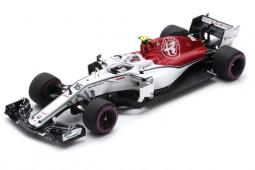 SAUBER C37 6th GP Formula 1 Azerbaijan 2018 C. Leclrec - Spark Scale 1:43 (s6055)