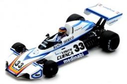 BRABHAM BT44B Test GP Formula 1 Spain 1976 Emilio de Villota - Spark Escala 1:43 (s7102)