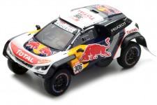 PEUGEOT 3008 KDR Maxi Rally Dakar 2018 S. Loeb / D. Elena - Spark Escala 1:43 (s5619)