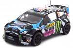 FORD Fiesta RS WRC Rally Catalunya 2014 K. Block / A. Gelsomino - Ixo Escala 1:18 (18RMC017)
