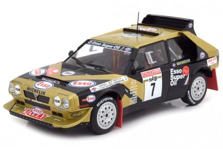 LANCIA Delta S4 Rallye San Remo 1986 F. Tabaton / L. Tedeschini - Triple 9 Escala 1:18 (T9-1800215)