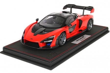 McLaren Senna 2018 Red Accent - BBR Models Escala 1:18 (P18149F)