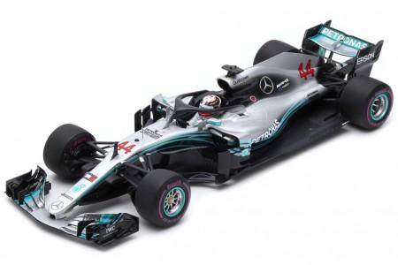 MERCEDES AMG W09 Campeon del Mundo y Ganador GP F1 Azerbaijan 2018 L. Hamilton - Spark Escala 1:18 (18s326)