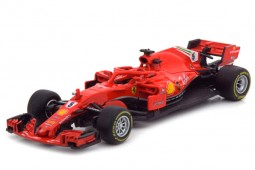 FERRARI SF71H Formula 1 2018 S. Vettel - Bburago Scale 1:43 (36800V)