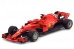 FERRARI SF71H Formula 1 2018 S. Vettel - Bburago Escala 1:43 (36800V)