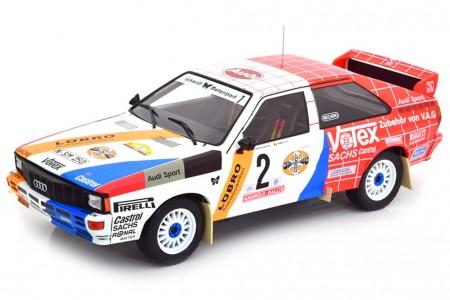 AUDI Quattro A1 Ganador Hunsruck Rally 1984 H. Demuth / W. Lux - Ixo Models Escala 1:18 (18RMC010)
