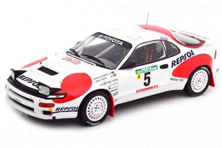 TOYOTA Celica GT-4 (ST185) Rallye Portugal 1992 A. Schwarz / A. Hertz - Ixo Models Escala 1:18 (18RMC023C)